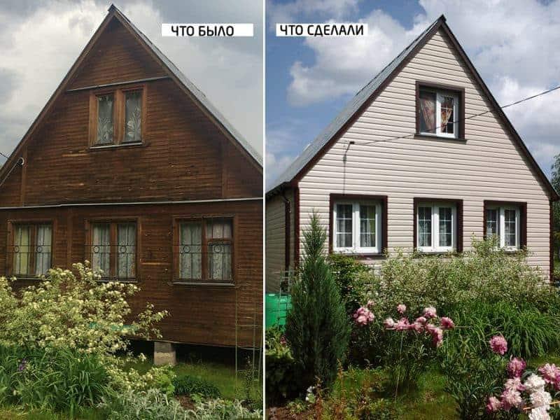 реконструкция дачного дома недорого