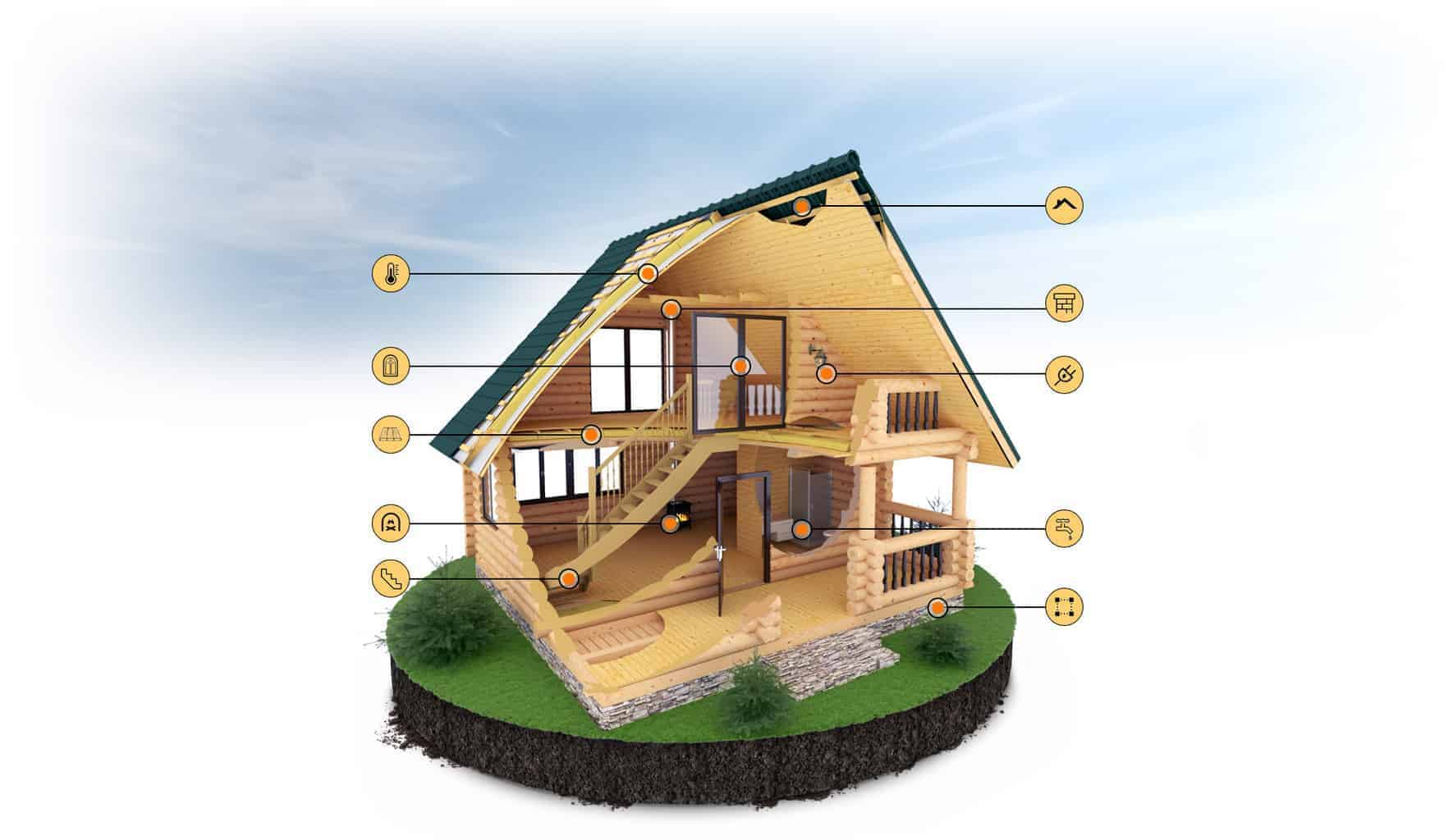 Внешняя и внутренняя отделка загородных домов и коттеджей