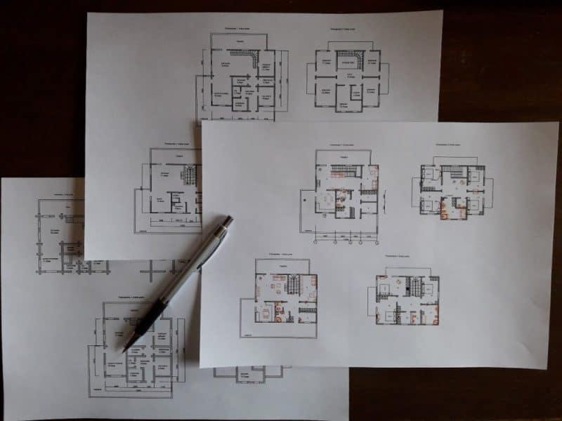 Проект сруба дома на бумаге от компании УтКи