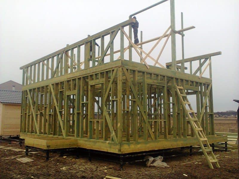 Деревянный каркасный дом полностью соответствует основным требованиям современной семьи.