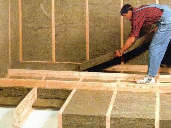 Утепление каркасного дома с использованием плит или матов.
