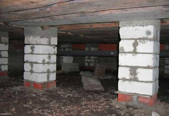 подполье каркасного дома