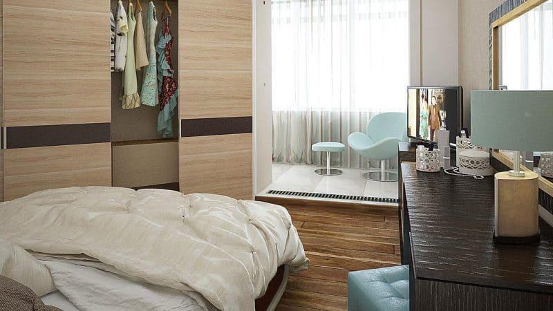 Объединение комнаты с лоджией или балконом