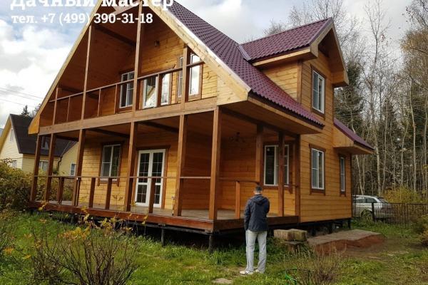 Дом до отделки веранды и лоджии