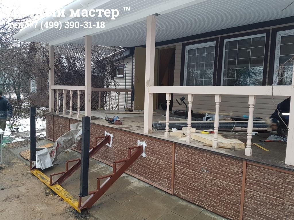 Реконструкция веранды дачного дома