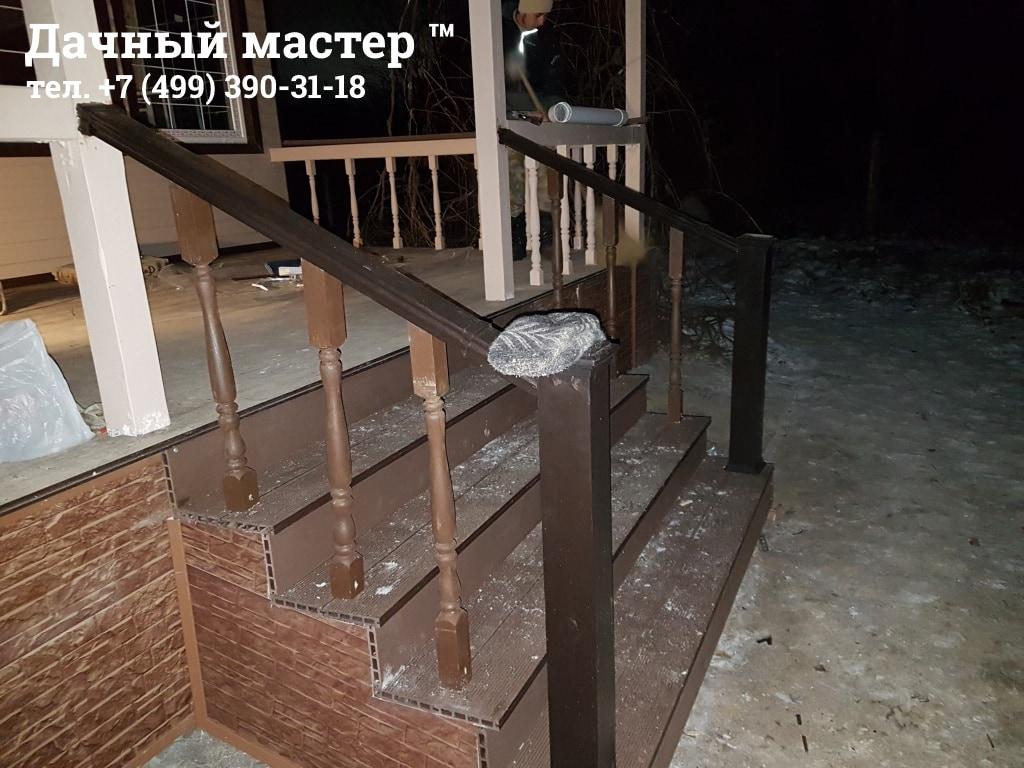 Реконструкция крыльца дачного дома