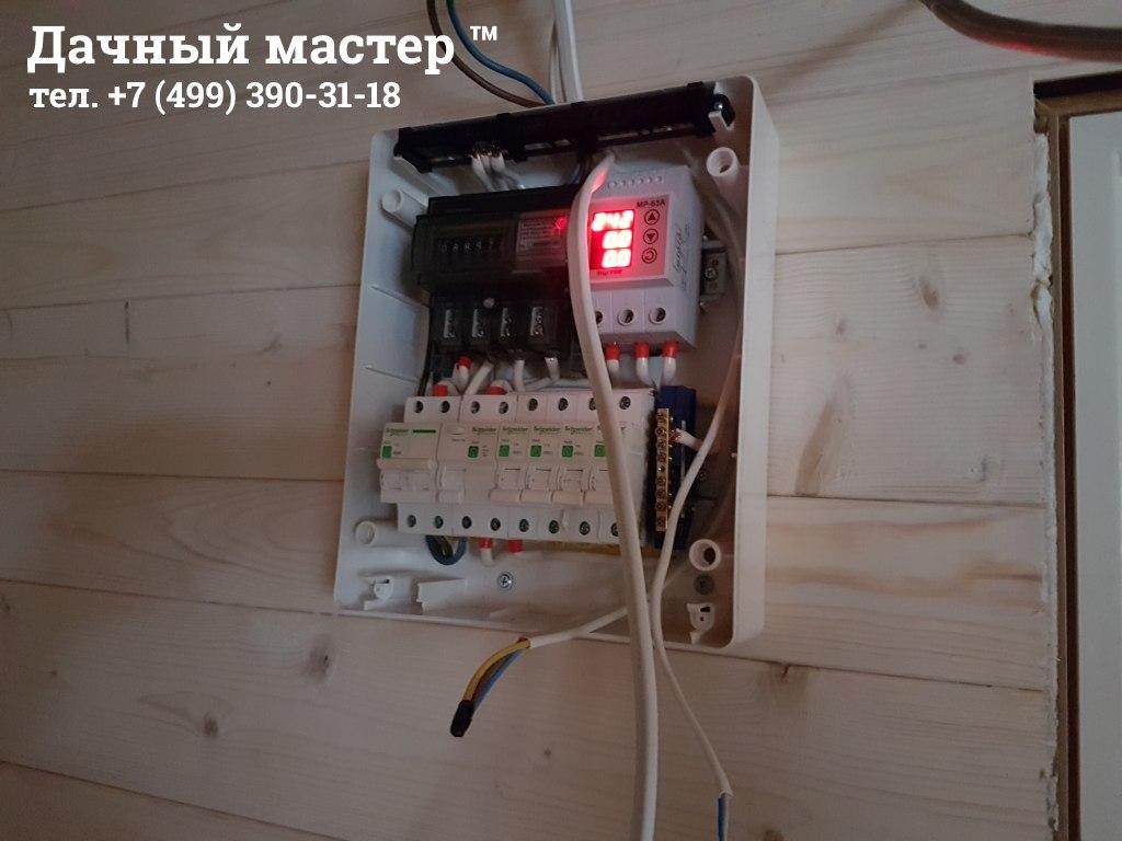 Замена электрощитка в дачном доме