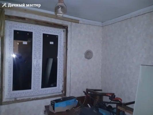 Комната дачного дома до отделки