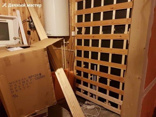 Обустройство разряженной обрешетки по стенам