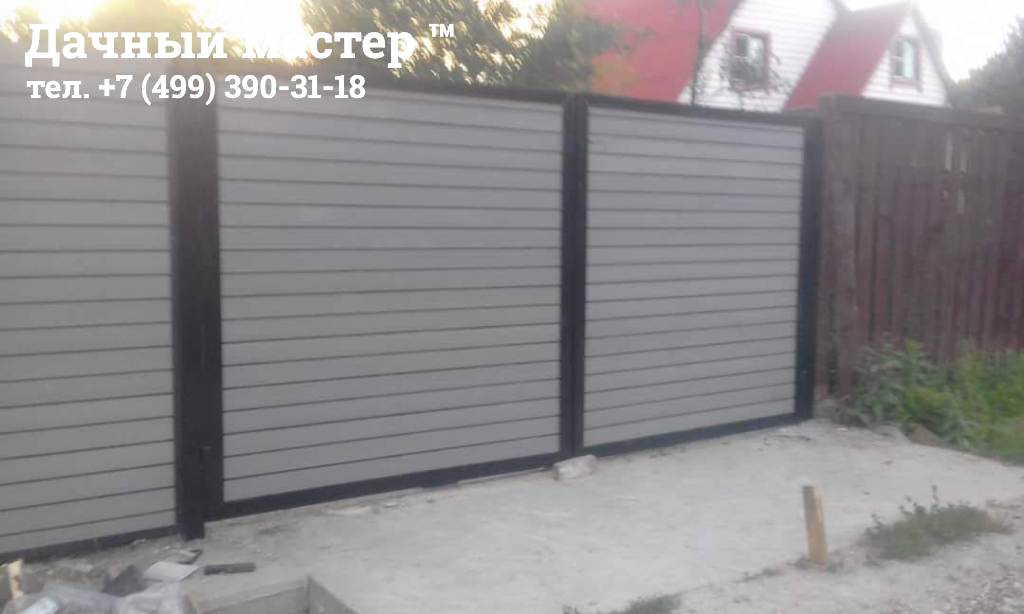 Забор из полимерной доски