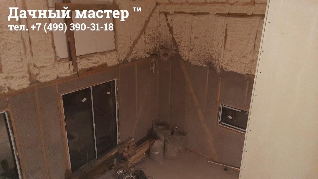 Дом после утепления (первый этаж эковата, второй пенополиуретан)