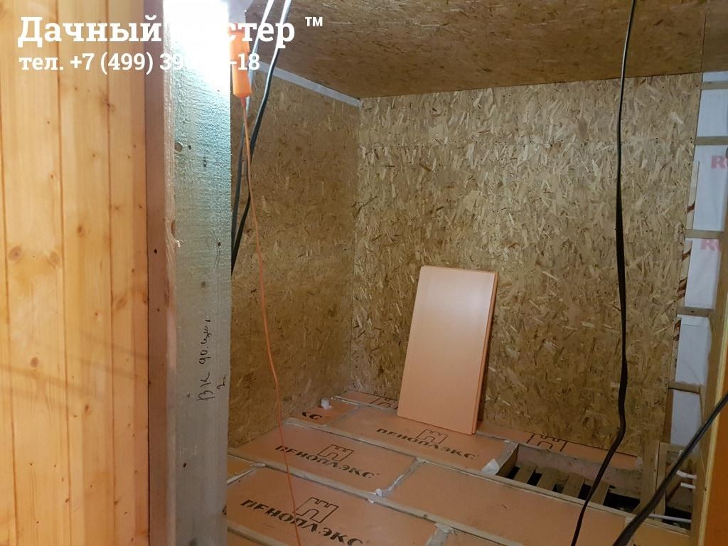 Обшивка стен пристройки OSB