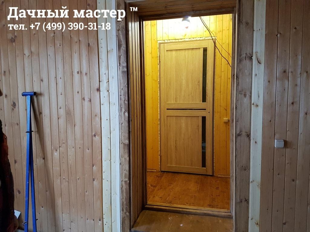 Обустройство дверного проема на входе в пристройку