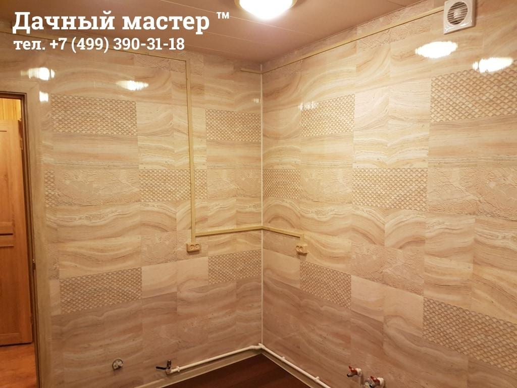 Общий вид ванной комнаты к выходу