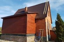 Строительство каркасной пристройки к брусовому дому
