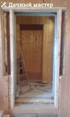 Обустройство проема под входную дверь. Монтаж швеллера и окосячки.