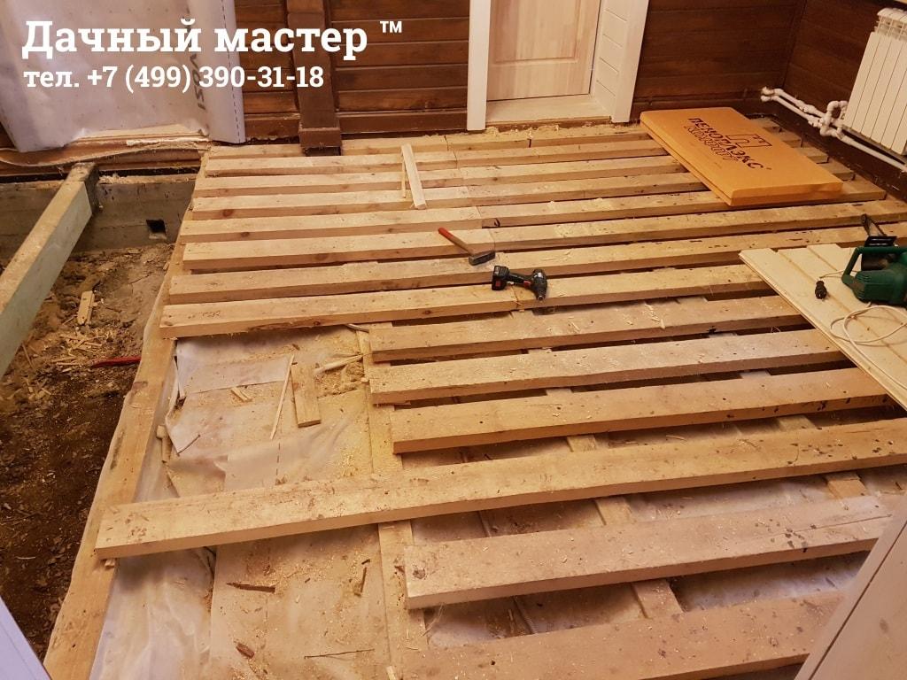 Демонтаж конструкций старого пола