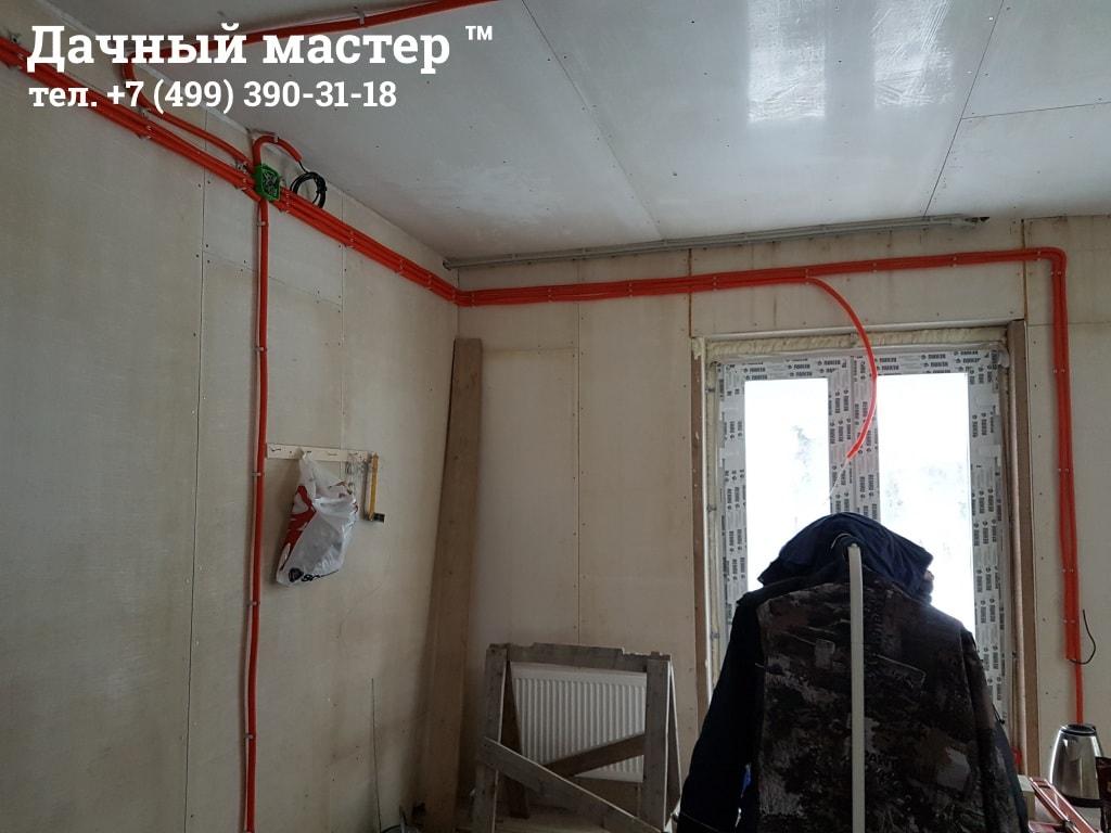 Прокладка электропроводки в коттедже