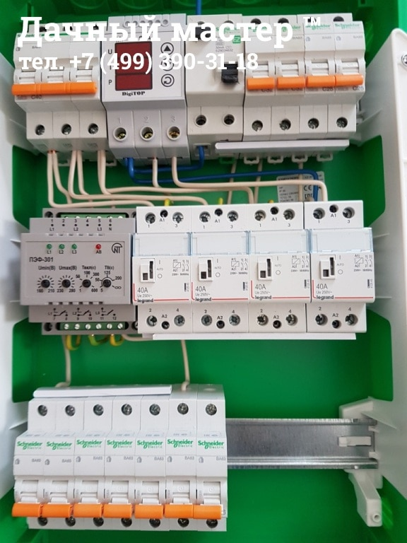 Сборка электрораспределительного щита