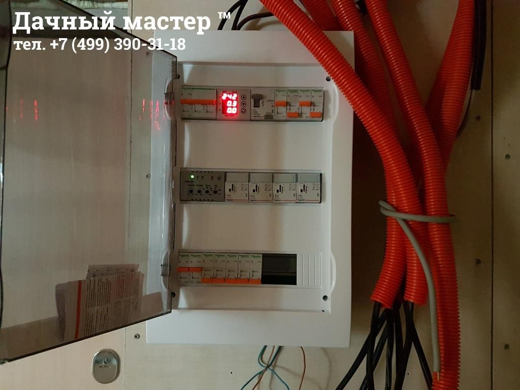 Монтаж электрораспределительного щита