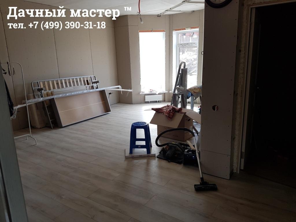 Общий вид комнаты после черновой отделки