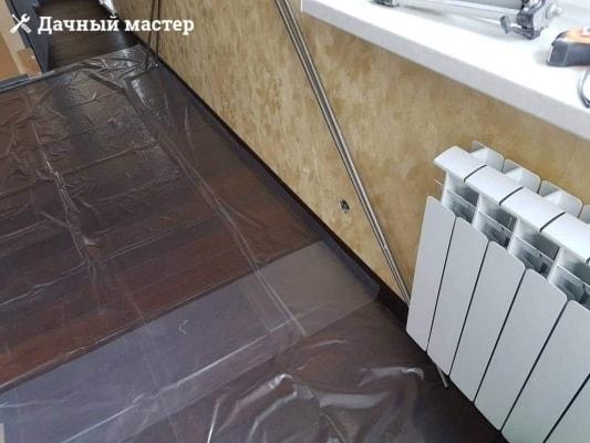Укладка паркетной доски в большой комнате