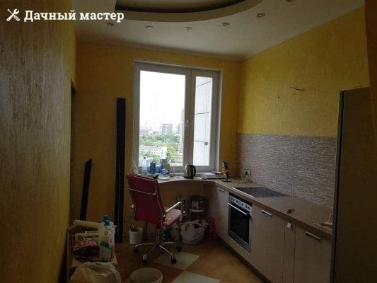Кухня после отделки декоративной штукатуркой