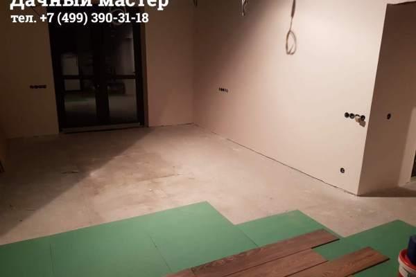 Укладка ламината в большой комнате