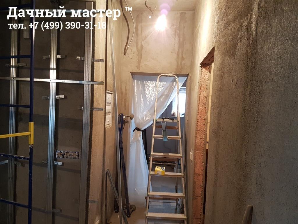 Стены коридора до отделки